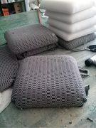 imbottitura del cuscino per berta la sedia artigianale prodotta in sardegna