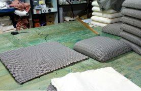 tapezzeria della sedia berta in collaborazione con bam design